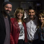 Mauro Mendonça Filho, Gloria Perez, Gagliasso e Debora. Globo/Estevam Avellar