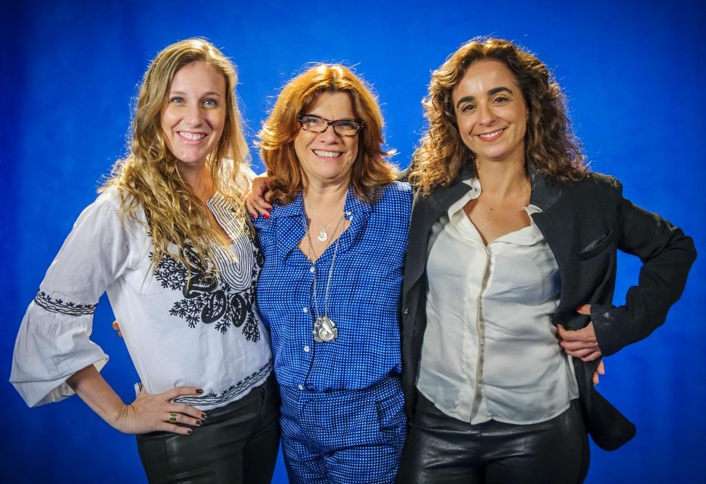 Nathalia Grimberg, Denise Saraceni e Maria de Médicis. Crédito: Divulgação/Globo