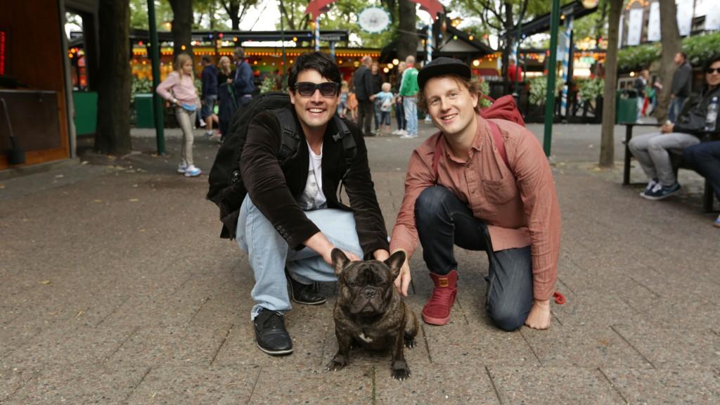 Bruno e o cachorro mais famoso do mundo (!). Crédito: Divulgação/Multishow