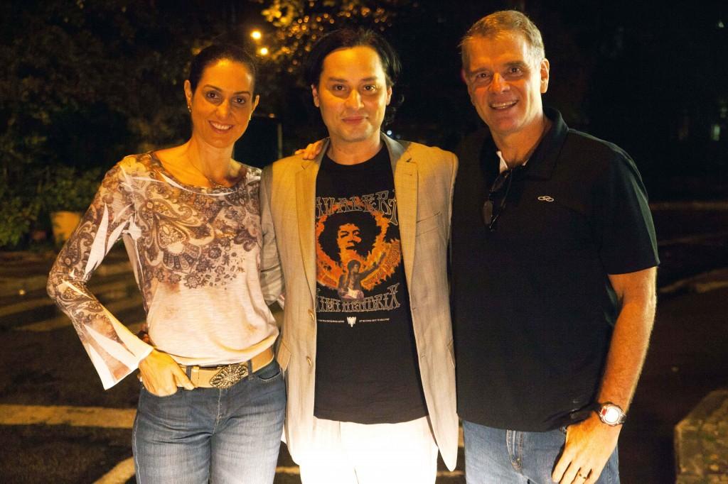 Fernanda, Maurício e Bernardinho. Crédito: Divulgação/Multishow