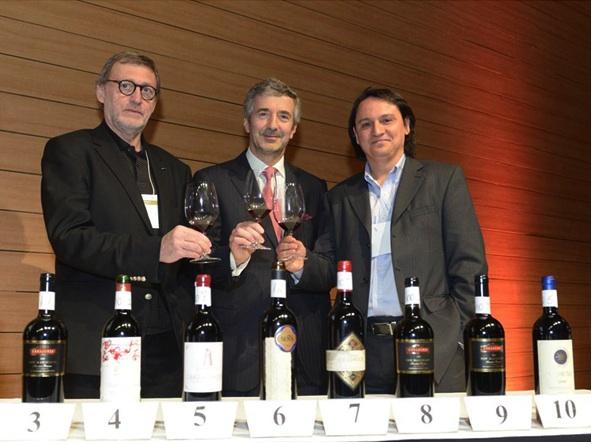 Jorge Lucki, Eduardo Chadwick, Marcelo Copello e e alguns mil reais de vinhos à sua frente
