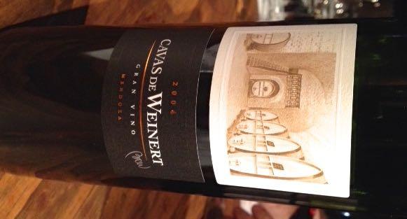 Cavas de Weinert Gran Vino 2004: não leve na mala...