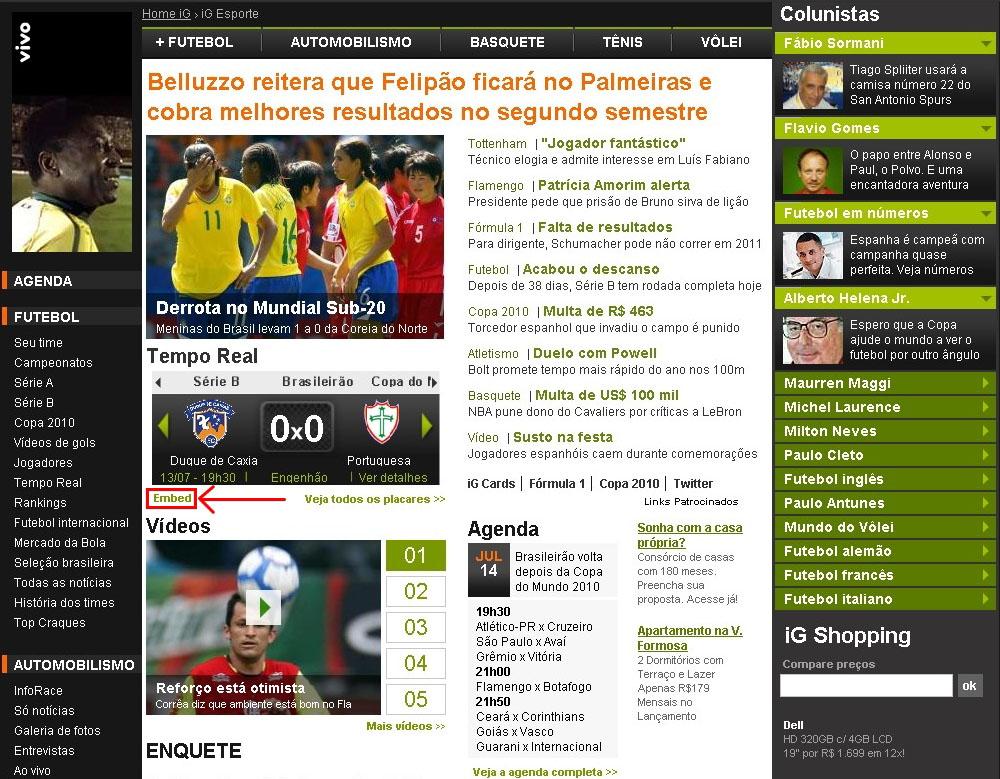 b370769ac9 Esporte – Blog da Redação » PONHA O TEMPO REAL DO iG NO ...