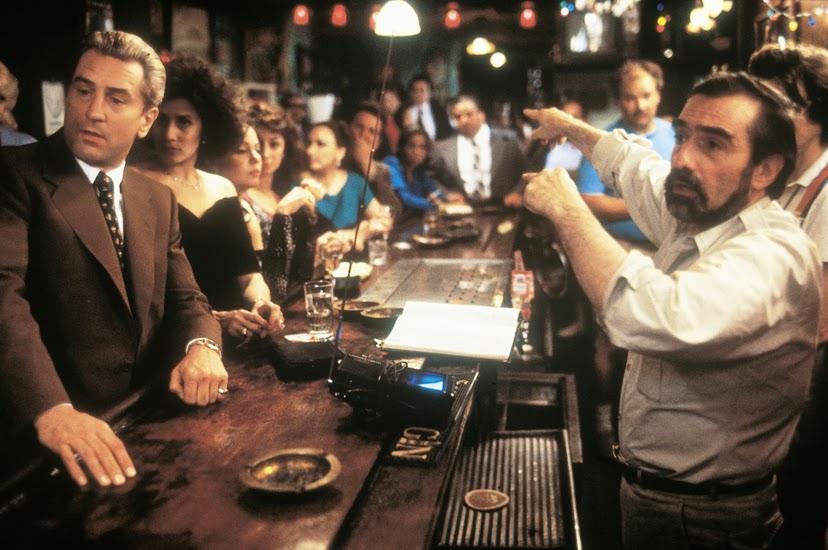 """Martin Scorsese orienta Robert De Niro e seu elenco nos sets de """"Os bons companheiros""""  (Fotos: divulgação)"""