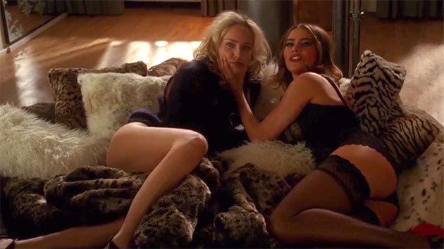 Sharon Stone e Sofia Vergara em cena do filme: a serviço de um hype que nunca se sustenta