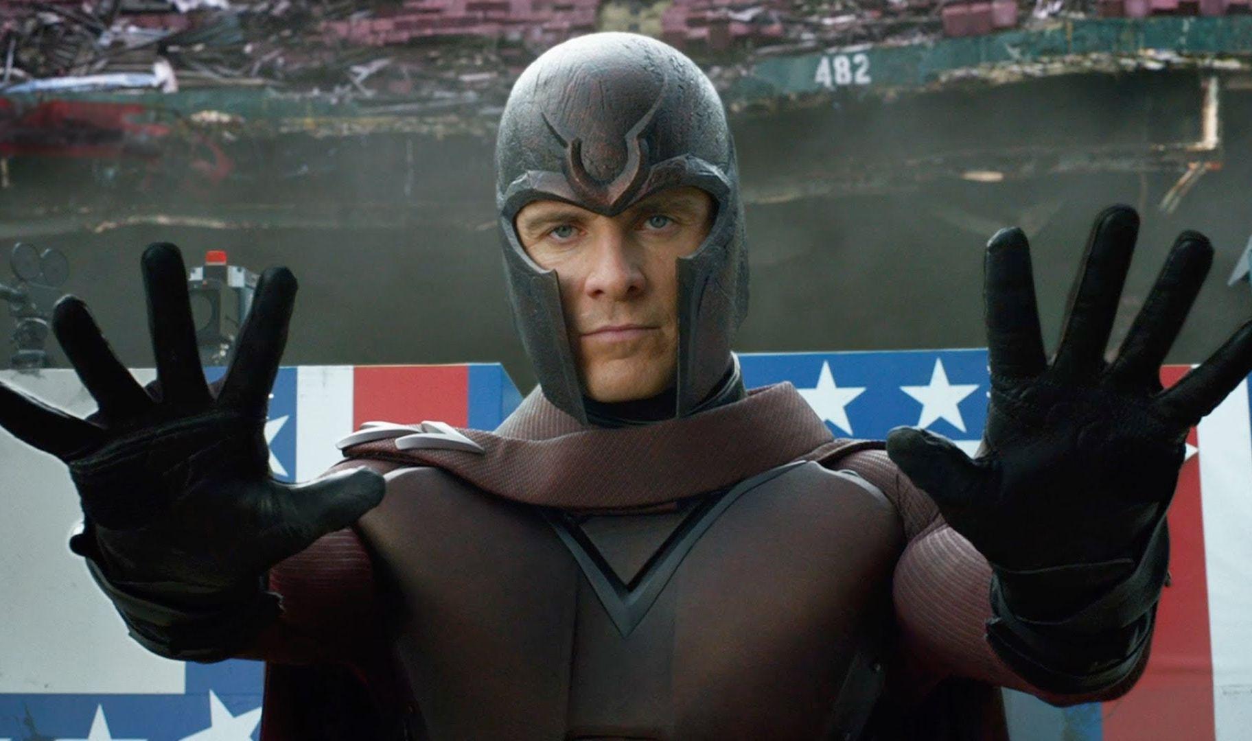 Magneto, vivido por Michael Fassbender em sua versão jovem, mostra seu poder  (Fotos: divulgação)