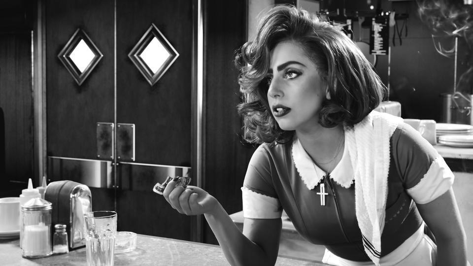"""Lady Gaga em foto de """"Sin City: a dama fatal"""" (Divulgação)"""