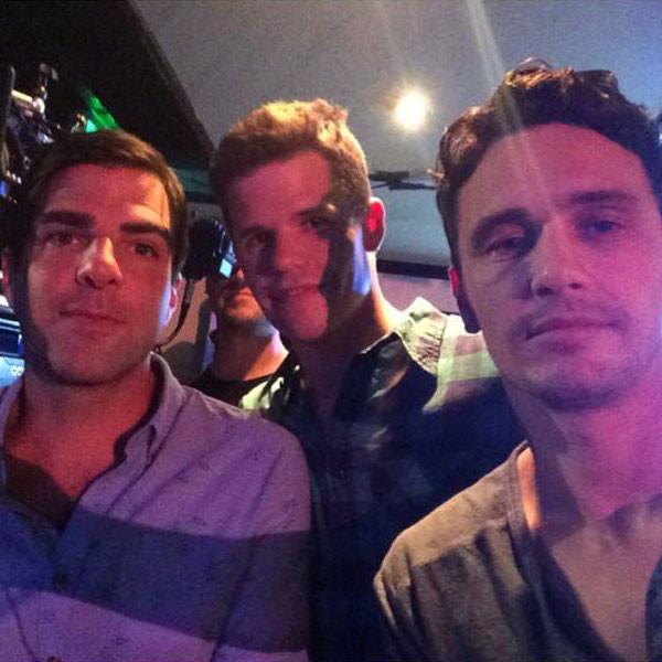 Foto postada por James Franco em seu Instagram em que surge ao lado de Quinto e Carver
