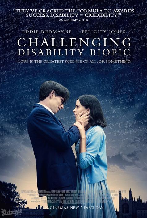 """""""A teoria de tudo"""" seria vendido como """"o desafio da deficiência motora"""" pois, afinal, o amor é a maior ciência de todas..."""