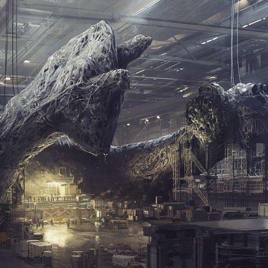 """Mais uma imagem da visão de Blomkamp para """"Alien"""""""