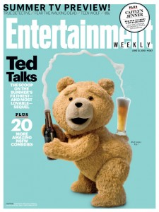"""Ted 2 "" na capa da EW: paródia de Kim Kardashian"