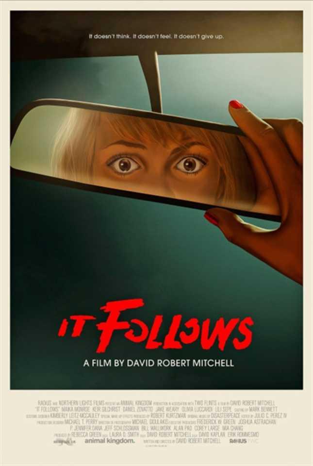 """O cartaz de """"Corrente do Mal"""" evoca aura de filme B, sem descuidar da aflição contínua que marca o longa"""