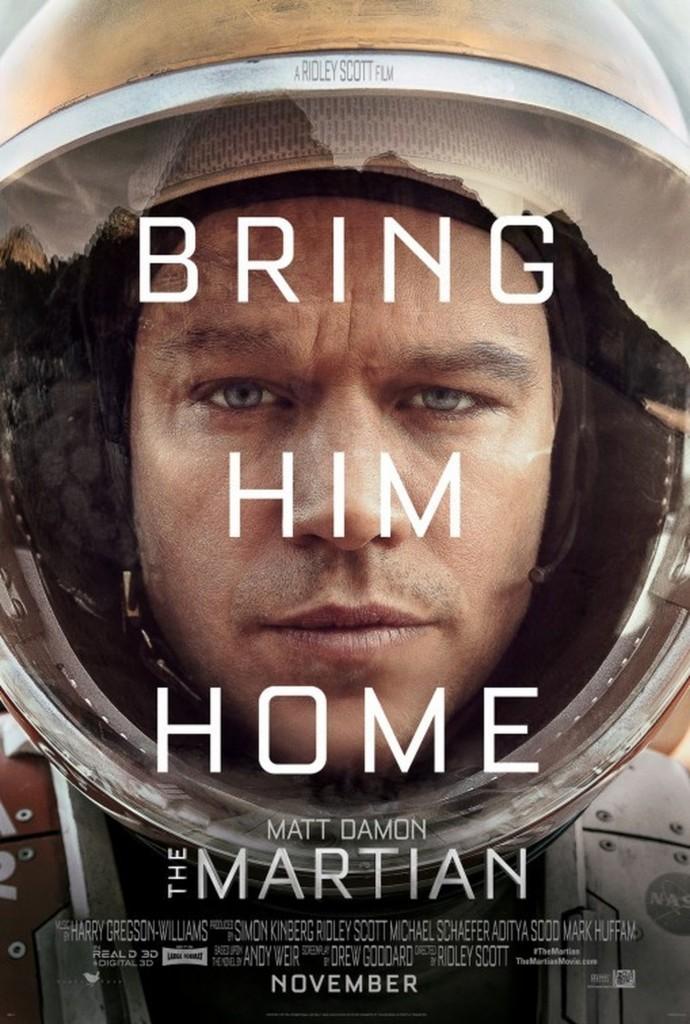 """Simples e profundamente reverberante, poucos cartazes foram tão miméticos quanto este de """"Perdido em Marte"""" em 2015"""