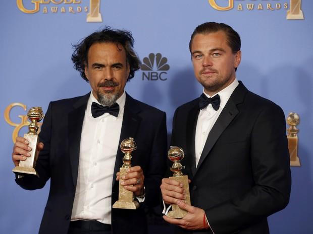"""Iñárritu e DiCaprio: noite de consagração inesperada de """"O Regresso"""""""