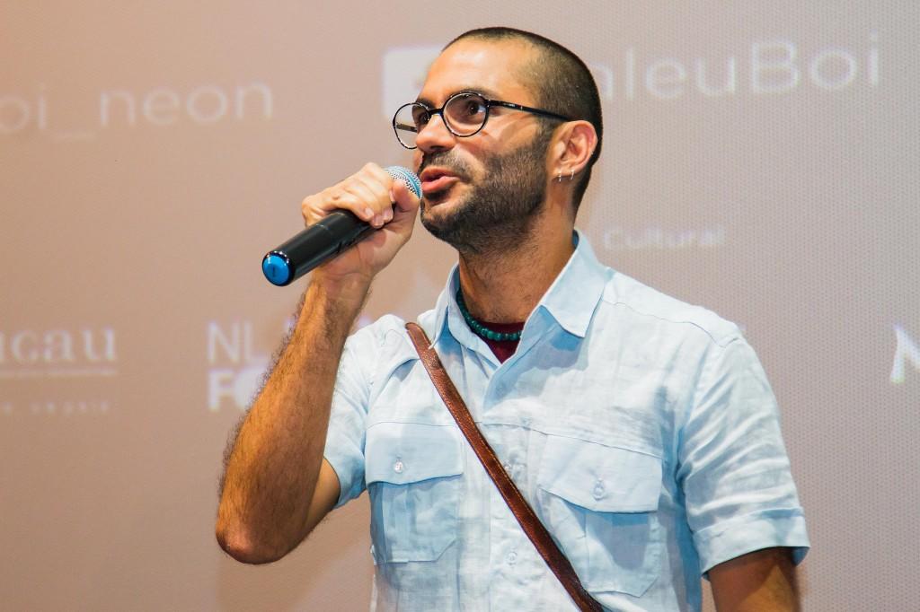 O cineasta pernambucano Gabriel Mascaro na pré-estreia do filme em São Paulo (Foto: divulgação/Imovision)