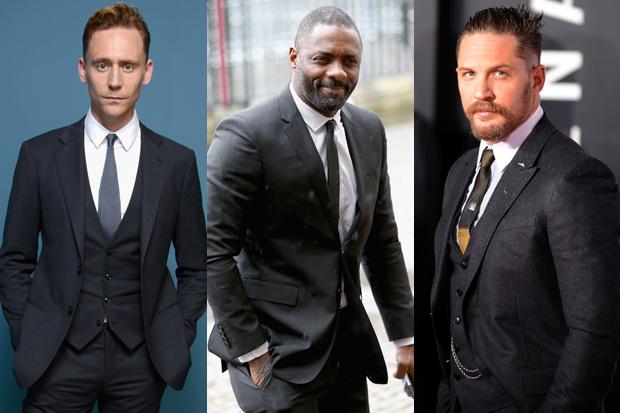 Tom Hiddleston, Idris Elba e Tom Hardy: favoritos para o papel (Foto: montagem sobre reprodução)
