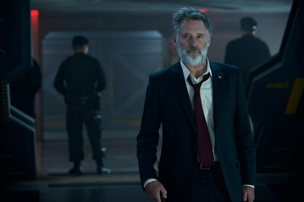 """Pullman em cena do novo """"Independence Day"""": um ator sensível que faz muito bem o tipo durão... (Foto: divulgação)"""