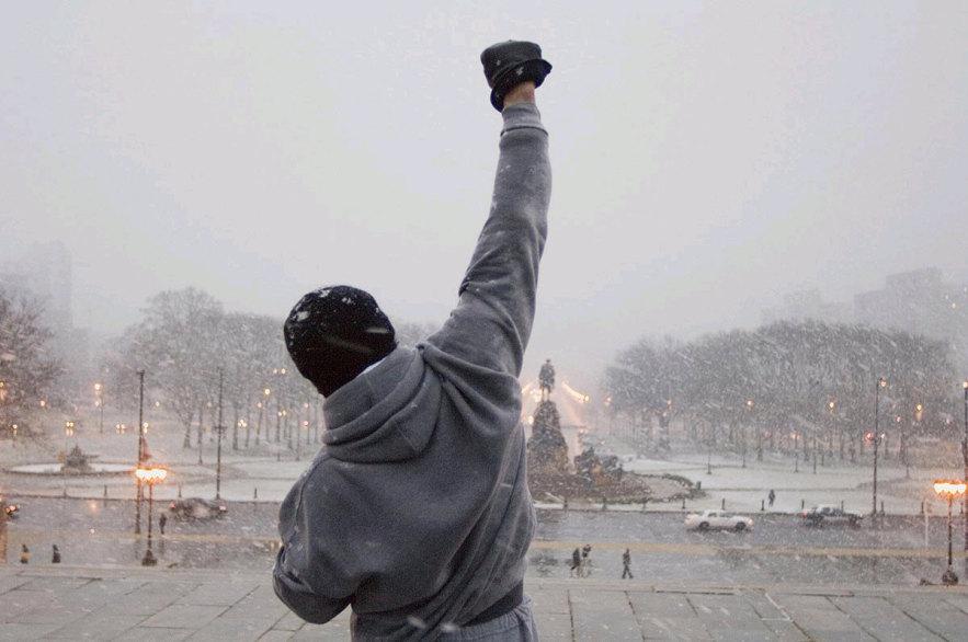 Stallone em uma de suas cenas mais memoráveis: ator chega aos 70 anos no melhor momento da carreira (Fotos: divulgação)