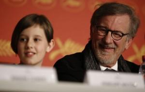 Ruby e Spielberg no último festival de Cannes (Foto: Léo Laumont)