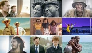As nove produções que concorrem ao Oscar de melhor filme