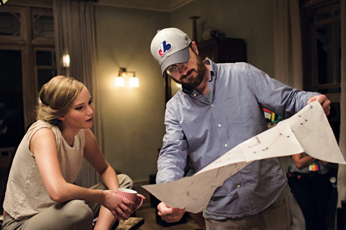 Darren Aronofsky orienta Jennifer Lawrence no set de mãe!