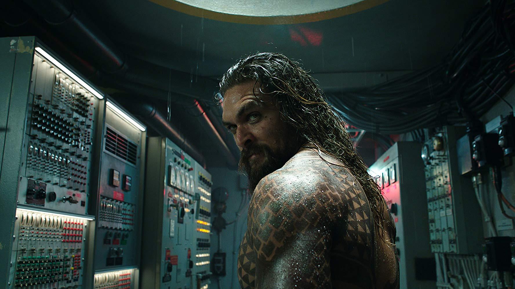 Cena de Aquaman, que está bombando nos cinemas