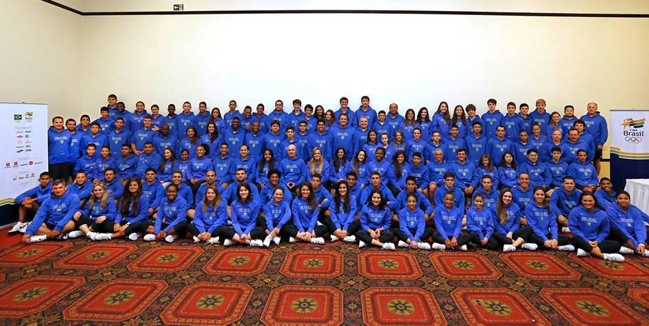 Atletas da delegação do Brasil que participa, a partir desta sexta-feira, dos Jogos Sul-Americanos da Juventude
