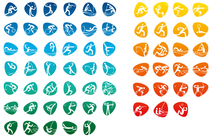 Os pictogramas das Olimpíadas e Paraolimpíadas dos Jogos de 2016, revelados nesta quinta