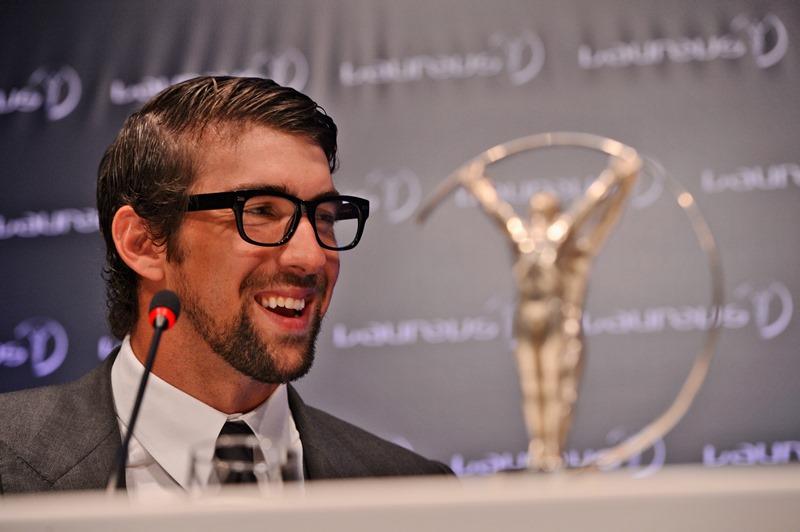 Michael Phelps foi um dos vencedores do Laureus 2013, realizado no Rio