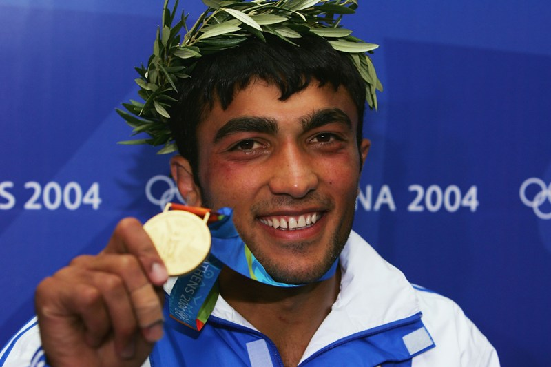 O judoca Ilias Iliadis, uma das seis medalhas de ouro da Grécia em 2004; Brasil precisa se organizar para nã repetir o exemplo greego em 2020