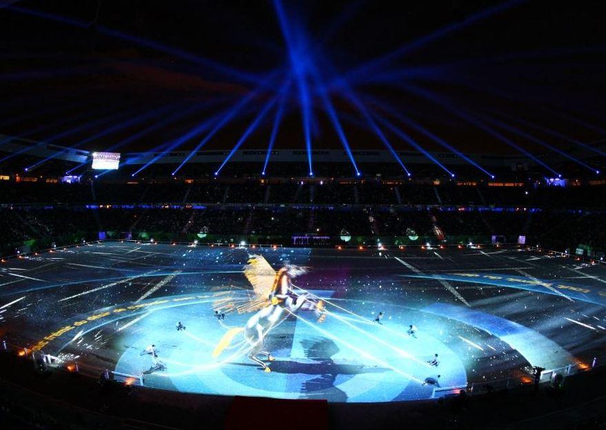 A cerimônia de abertura dos Jogos Equestres Mundiais foi realizada no ´pultimo sábado, no Ornano Stadium
