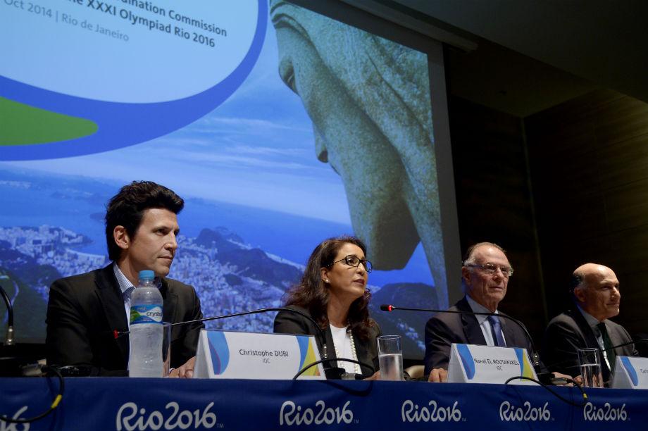 Comssão do COI concede entrevista coletiva após o final de mais uma visita de avaliação dos Jogos de 2016
