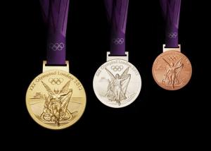 As medalhas que foram distribuídas nas Olimpíadas de 2012, em Londres