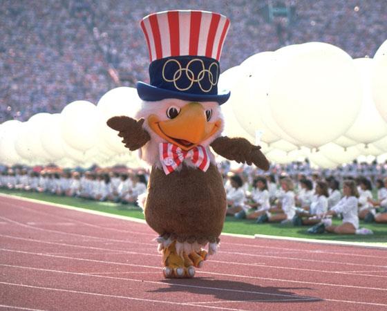 Sam, a águia, foi a mascote dos Jogos de 84, em Los Angeles