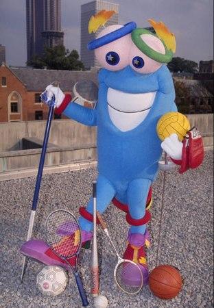 O esquisito Izzy, mascote de Atlanta 1996