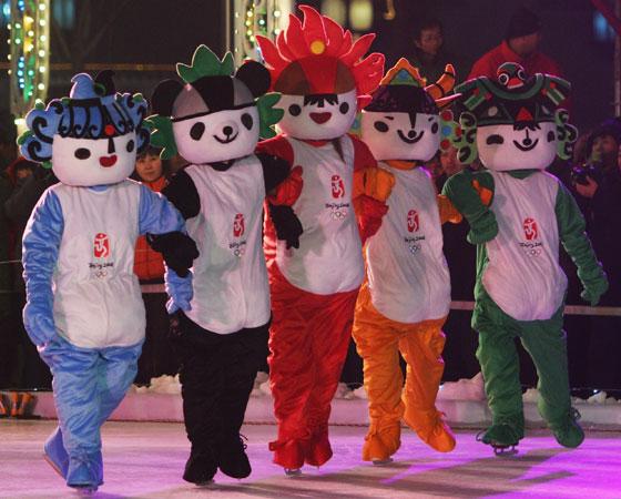 """""""Fuwa"""", as cinco mascotes dos Jogos de Pequim 2008"""