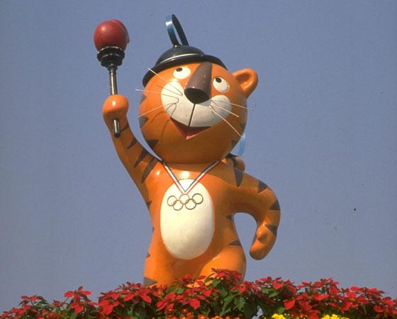 Hodori, o tigre, foi a mascote de Seul 1988