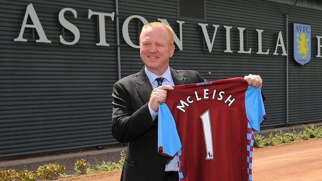 O número 1 exibido pelo novo treinador do Aston Villa ... 00846b5bc21cd
